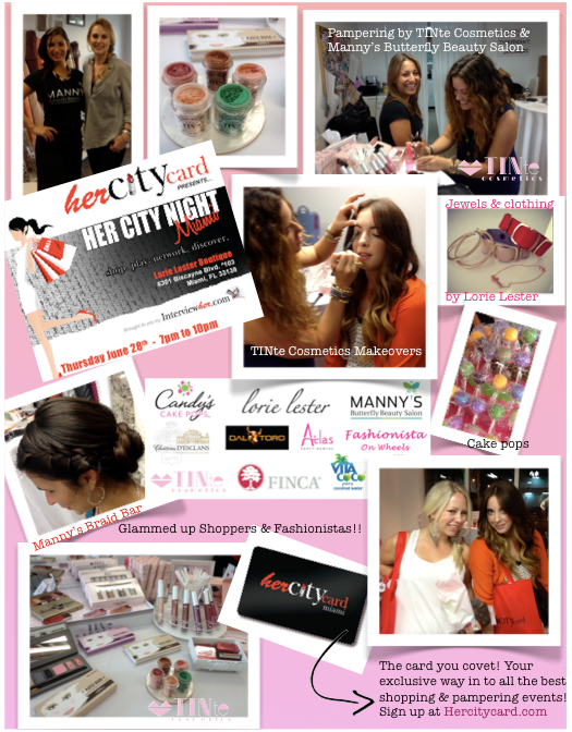 TINte Cosmetics pampers Her City Card Members at an exclusive Miami Shopping Event