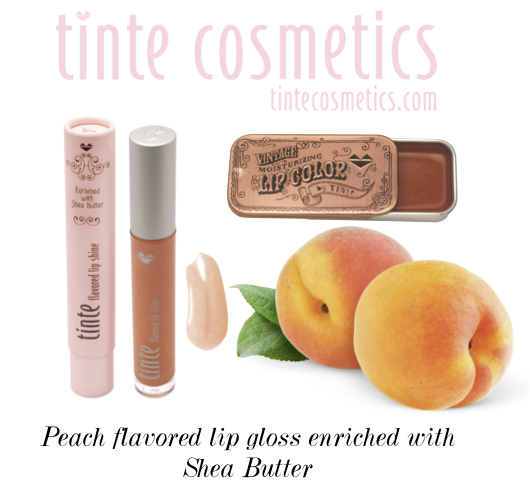 peach flavored lip gloss