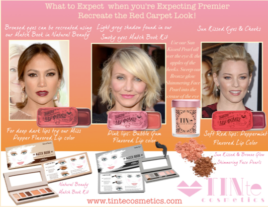 """Get the Look"" Recreate Red Carpet Beauty Using TINte Cosmetics : What to Expect when you're Expecting Premier"