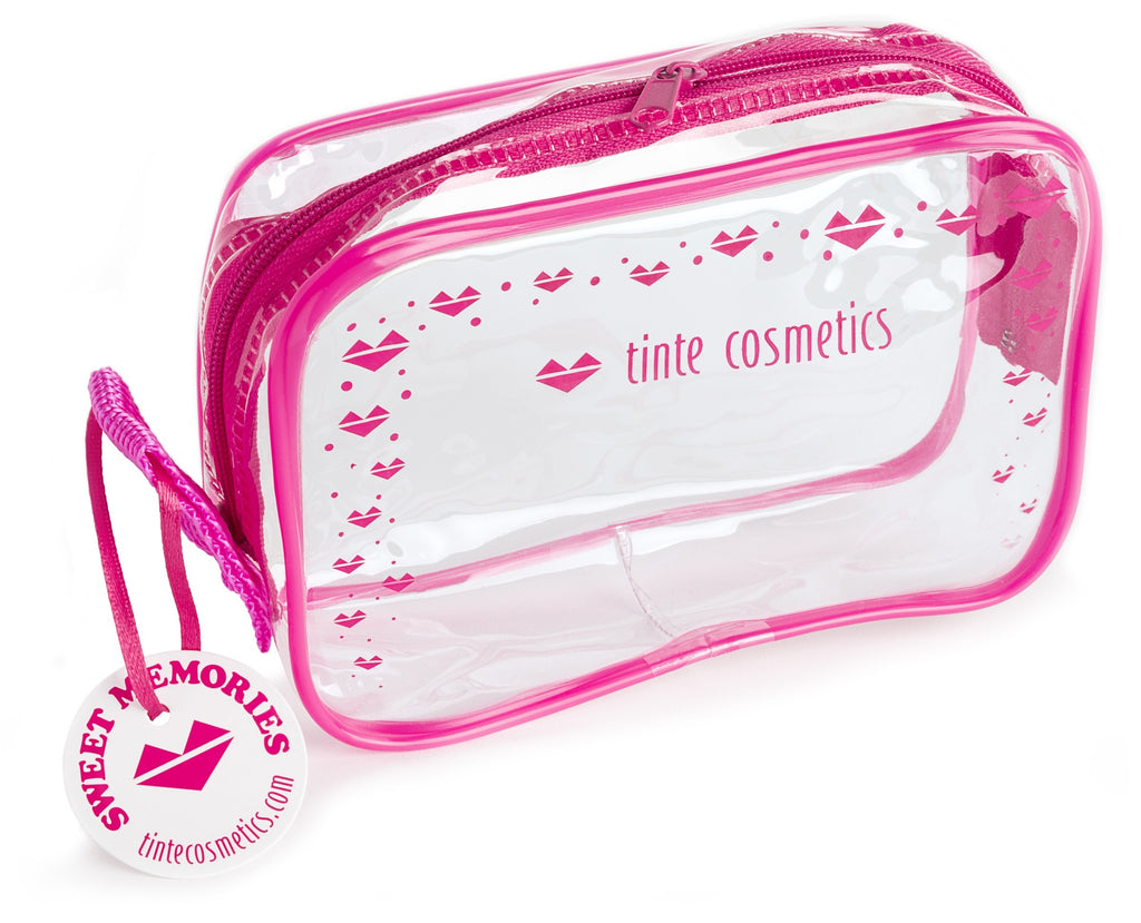 PINK Tinte Hearts makeup bag