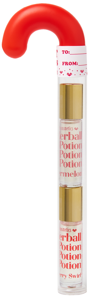Candy Cane Organic Rollerball Lip Potion Kit: Watermelon & Strawberry