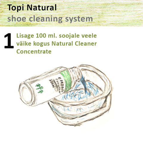 Topi natural sneaker cleaning system 1