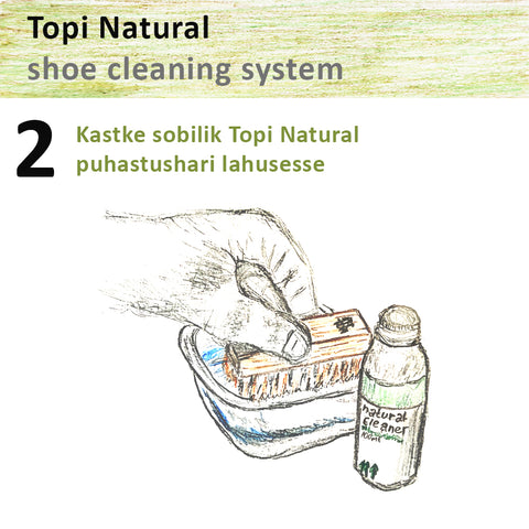 Topi natural sneaker cleaning system 2