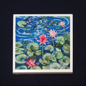 Tile Coaster - Lillies