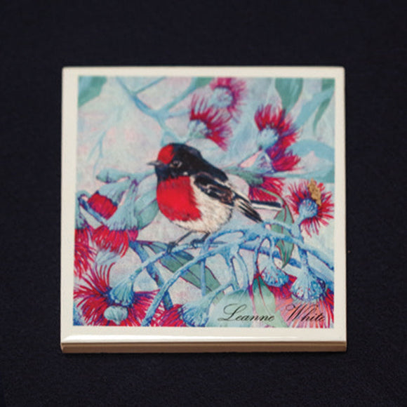 Tile Coaster - Robin