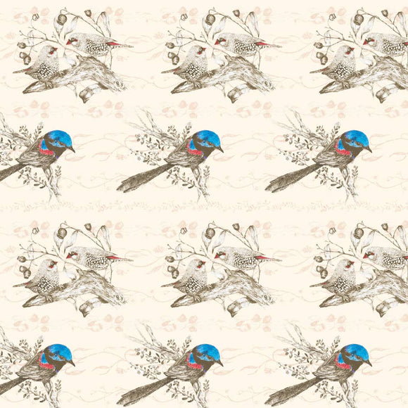 Giftwrap - Finches and Wren