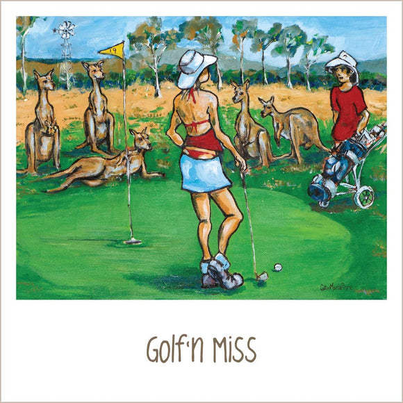 Greeting Card - Golf'n Miss
