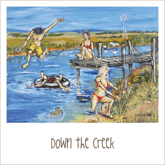 Greeting Card - Down The Creek