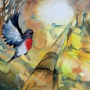 Greeting Card - Red Red Robinbreast