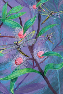 Greeting Card - Blue Skimmer Dragonflies