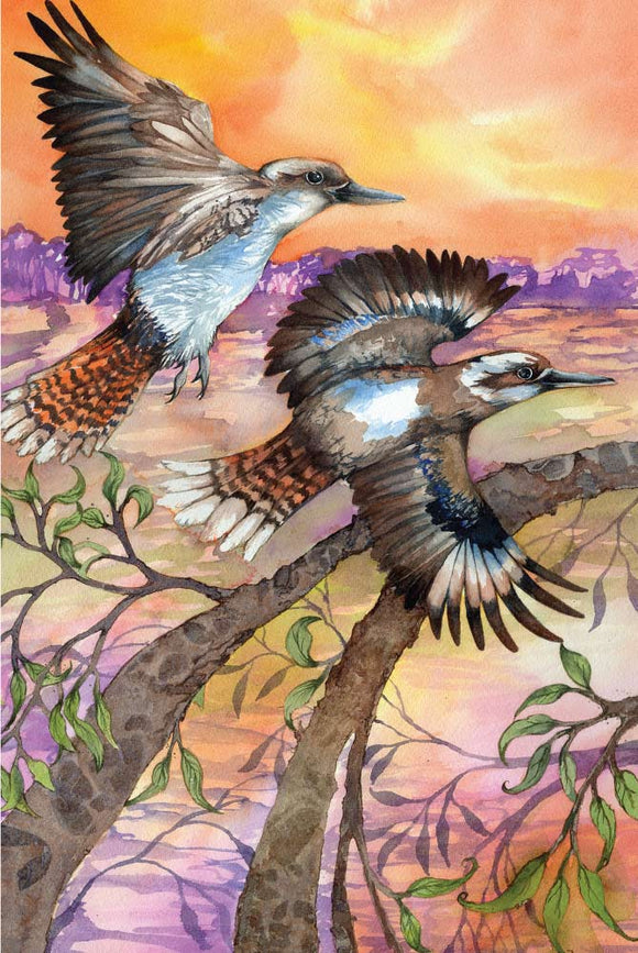 Greeting Card - Laughing Kookaburras