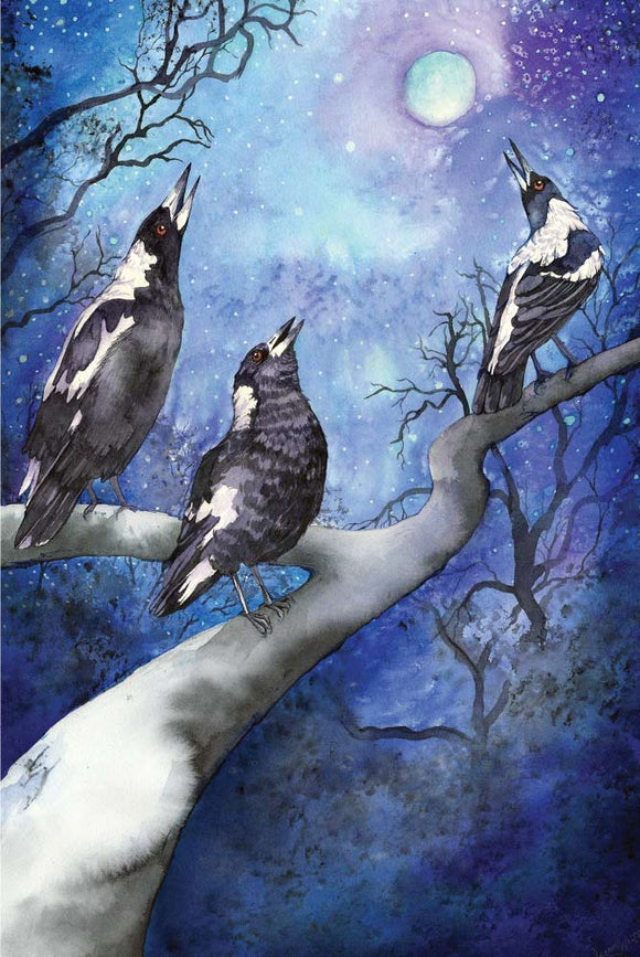 Greeting Card - Magpie