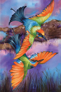 Greeting Card - Rainbow Bee Eater Pair