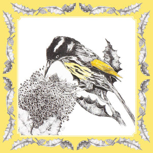 Greeting Card - New Holland Honey Eater