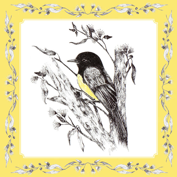 Greeting Card - Western Yellow Robin