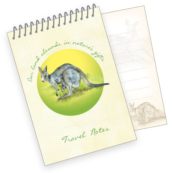 A7 Travel Notes Pad - Western Grey Kangaroo