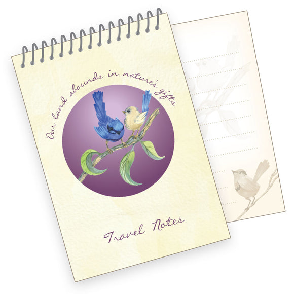 A7 Travel Notes Pad - Splendid Fairy Wren