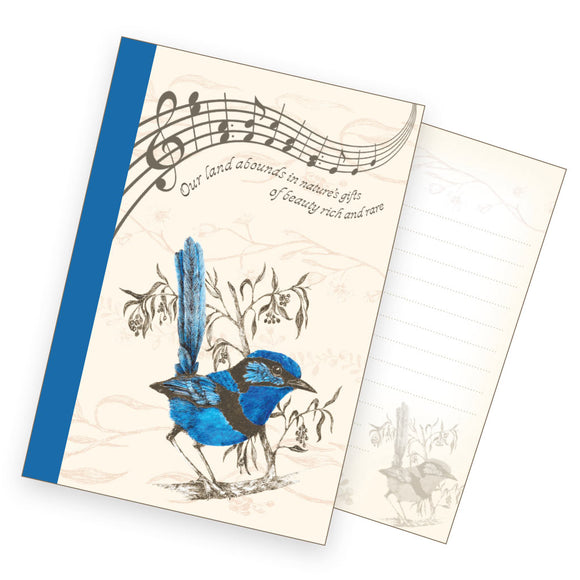 A6 Notebook - Male Splendid Fairy Wren