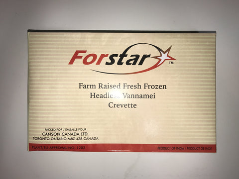 WHITE SHRIMP RAW (HEAD-LESS) - INDIA - FORSTAR BRAND