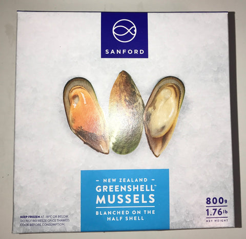 MUSSELS HALF-SHELL COOKED - NEW ZEALAND SANFORD BRAND