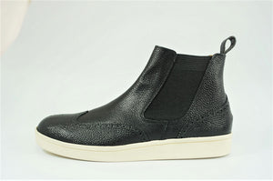 Load image into Gallery viewer, My えむわい / LSN-006 Chelsea Wing-Tip Boots col,BLACK/ 宮城興業㈱製