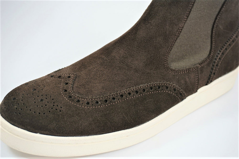 My えむわい / LSN-006 Chelsea Wing-Tip Boots col,DK-BROWN SUEDE / 宮城興業㈱製