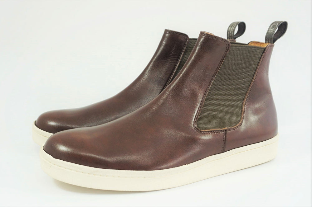 My えむわい / LSN-010 Chelsea Plain Boots col,DK-BROWN / 宮城興業㈱製