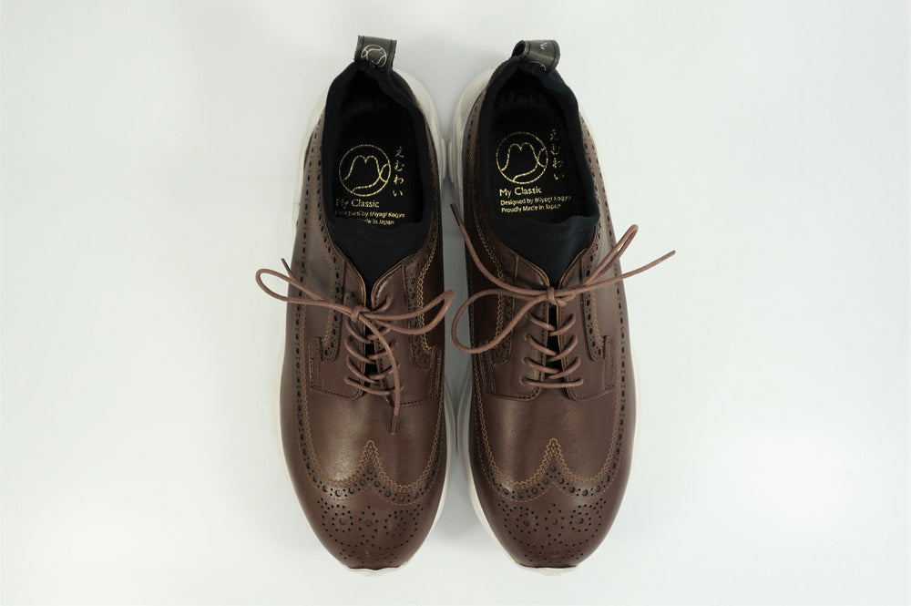 My えむわい / LSN-100 LASER-Long Wing Blucher col,BROWN / 宮城興業㈱製