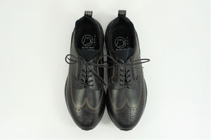 My えむわい / LSN-100 LASER-Long Wing Blucher col,BLACK ( EMBOSS ) / 宮城興業㈱製