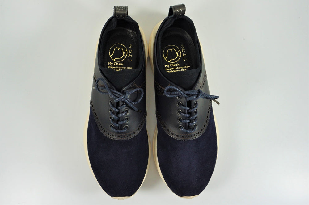 My えむわい / LSN-101 LASER-Saddle Oxford col,NAVY / 宮城興業㈱製