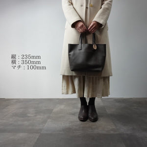 Load image into Gallery viewer, IN DA MASHE / トートバック / size, M / col,DK-BROWN(エンボス) / 宮城興業㈱製