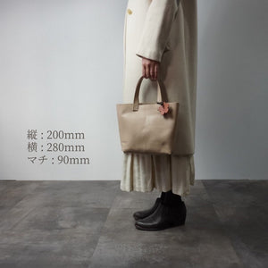 Load image into Gallery viewer, IN DA MASHE / トートバック / size, S / col,BEIGE / 宮城興業㈱製