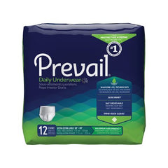 Adult Absorbent Underwear Prevail® Daily Underwear Pull On 2X-Large Disposable Moderate Absorbency