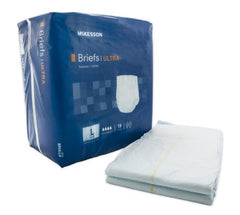 Adult Incontinent Brief McKesson Ultra Tab Closure Large Disposable Heavy Absorbency