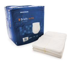 Adult Incontinent Brief McKesson Ultra Tab Closure X-Large Disposable Heavy Absorbency