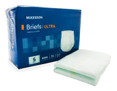 Adult Incontinent Brief McKesson Ultra Tab Closure Small Disposable Heavy Absorbency