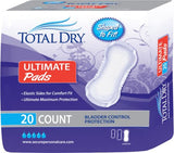Bladder Control Pad TotalDry™ 16-1/2 Inch Length Heavy Absorbency Polymer Regular Female Disposable