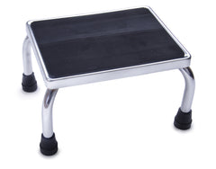 Foot Stool: Chrome with Rubber Mat