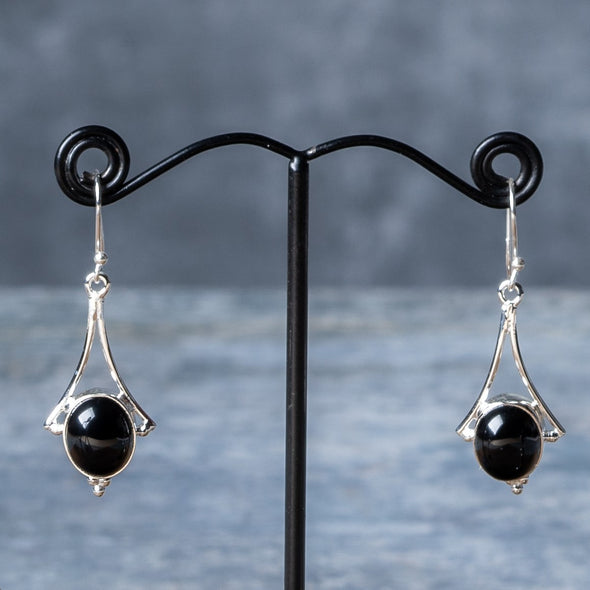 Stylized Stone Drop Earrings