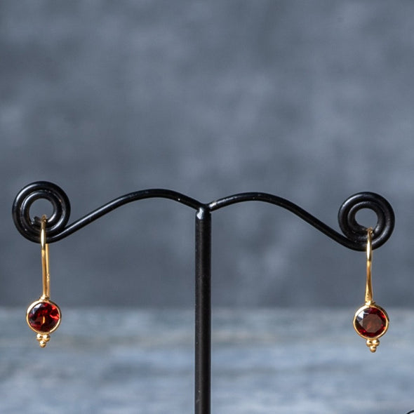 Delicate Stone Drop Earrings