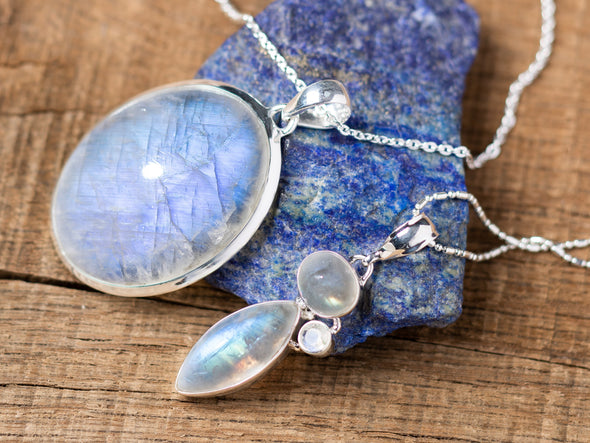 Moonstone Luminescence Necklace