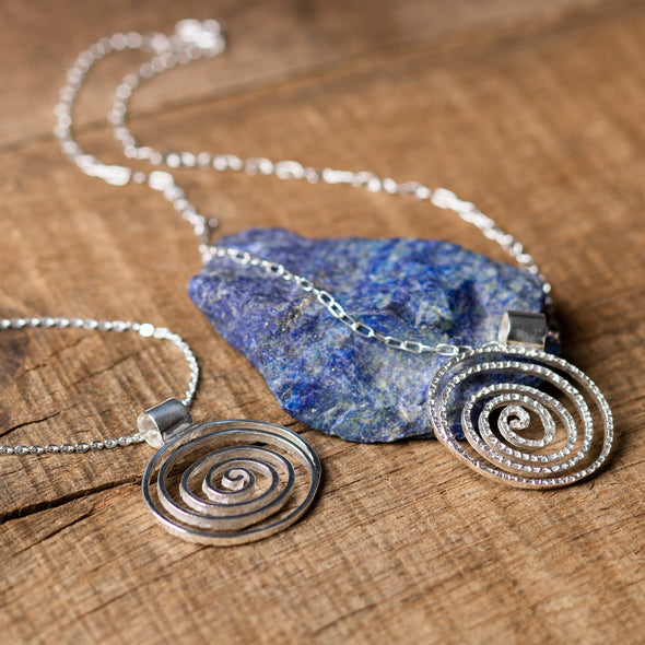 Double-Sided Open Spiral Necklace