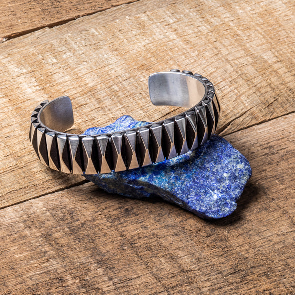 Navajo Diamond-Cut Cuff