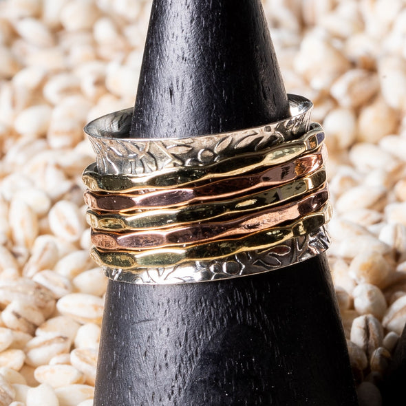 Mixed-Metal Simplicity Spinner Rings