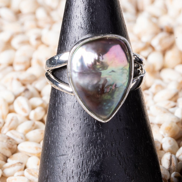 Mauve Freshwater Pearl Ring