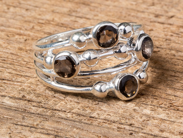 Stones + Spheres Wedge Ring