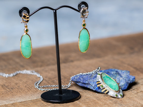 Chrysoprase + Diopside Showstoppers