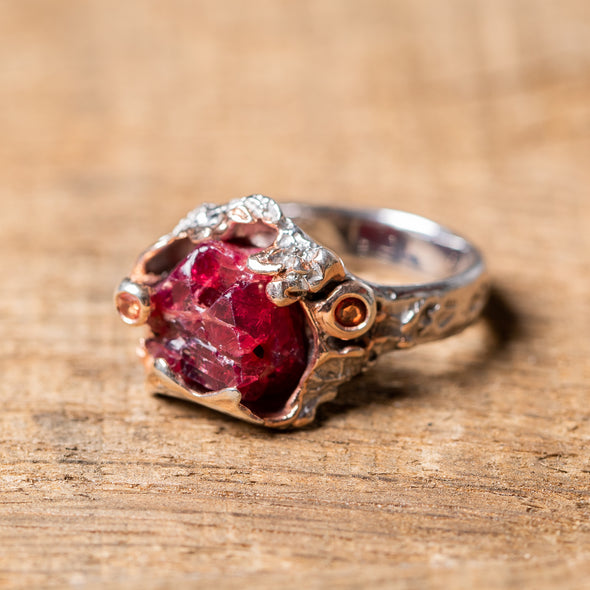 Raw Ruby + Rose Gold Stunner