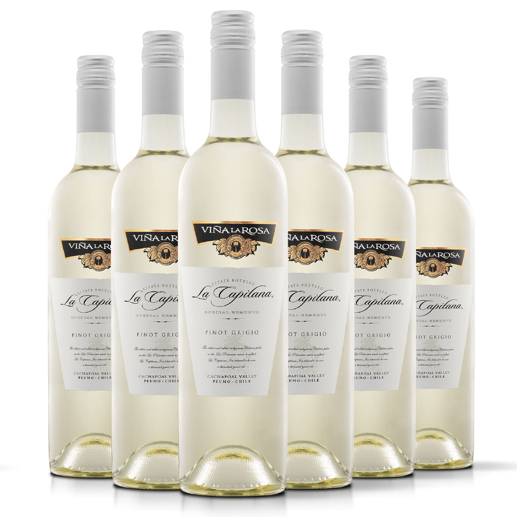 La Capitana Pinot Grigio (6 botellas 750ml)