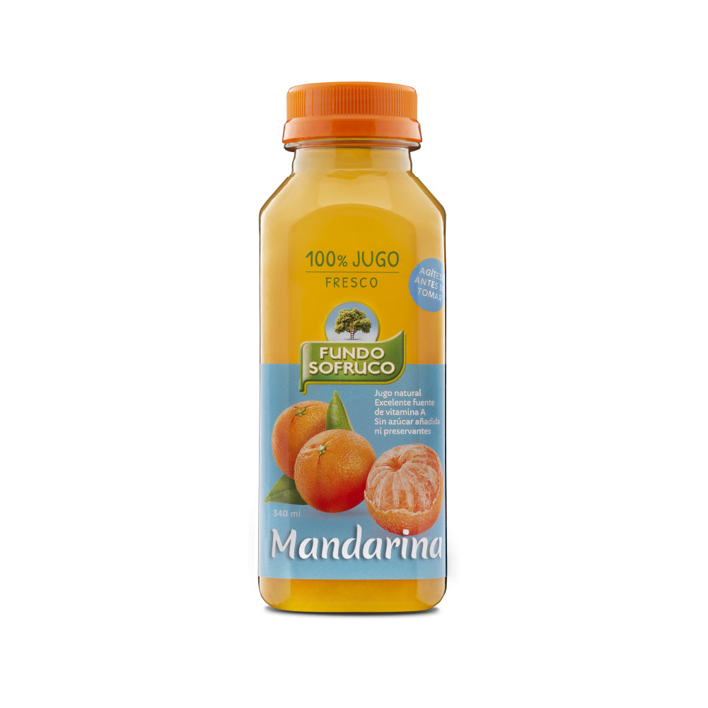 Jugo 100% Natural de Mandarina 340 ml (12 Unidades)